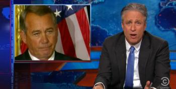 Stewart Makes A Mockery Of Crying Boehner For Big To-Do Over Congress Doing Their Job
