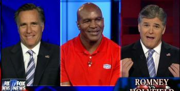 Hannity Makes Romney Vs. Holyfield Match About Himself