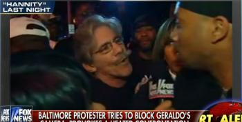 Fox's Rivera Brags About 'Standing His Ground' With Baltimore Protester