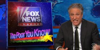 Jon Stewart Takes Fox, Scarborough To Task For Whining About Obama Saying Fox Demonizes The Poor
