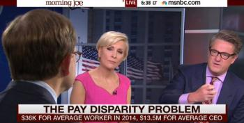 Overpaid Morning Joe Bloviator Wants To Get CEO Pay Under Control