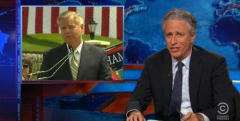 Jon Stewart Mocks Lindsey Graham's Fearmongering Jump Into The 2016 Clown Car