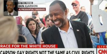 Ben Carson: Can We Talk About 'More Important' Things Than 'The Gay Issue'?