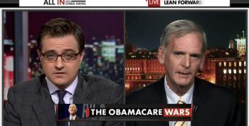 Watch: Chris Hayes Beats Down Ex-Senator's ACA Lies With Facts