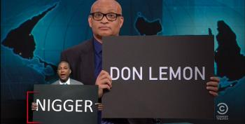 Nightly Show Wonders How It Went For CNN Intern Buying Lemon's N-Word Sign