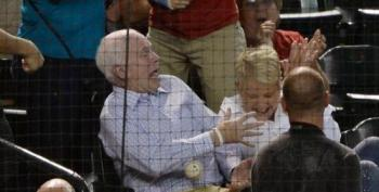 McCain Muffs Foul Ball At Diamondbacks Game