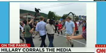 CNN Panel Whines About Clinton Campaign Using Rope To Corral Media