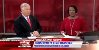 News Anchor's Emotional On-Air Response To The Confederate Flag Coming Down