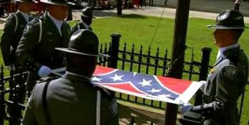 The Confederate Flag Comes Down To Cheers Of 'USA!' And 'Na, Na, Hey, Hey (Goodbye)'