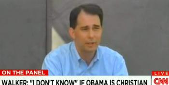 Scott Walker Claims He Still Doesn't Know If Obama Is A Christian