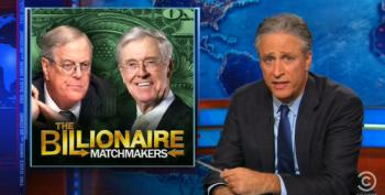 Jon Stewart Makes A Mockery Of Republicans Sucking The Teat Of The Koch Brothers