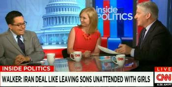 CNN Hacks Heap Praise On Walker's Ridiculous Analogy Comparing Iran To Teenagers