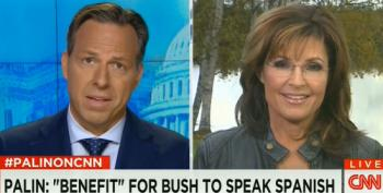 Palin To Immigrants: When You're Here, 'Let's Speak American'