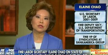 Elaine Chao Blames Slow Wage Growth On Government Regulation