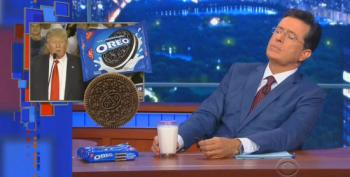 Stephen Colbert Attempts To Swear Off Covering Donald Trump And Oreos... Fails Miserably