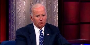 Joe Biden Has Touching Moment With Stephen Colbert