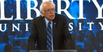 Bernie Sanders Seeks Common Ground At Liberty University