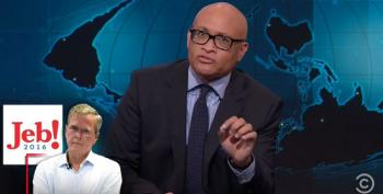 Larry Wilmore Takes Jeb(!) Apart Over His Remarks About Black People And 'Free Stuff'