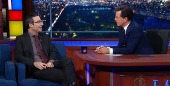 John Oliver To Stephen Colbert: 'I Couldn't Give Less Of A F**k About Donald Trump