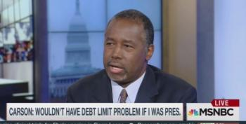 Ben Carson Channels Michele Bachmann: No To Raising 'Debt Ceiling'
