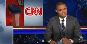 Trevor Noah Mocks CNN For Keeping An Extra Podium Ready For Biden