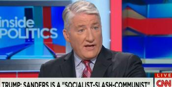 CNN's King Asks 'Does Mr. Trump Have A Point?' After Playing Video Of Him Calling Sanders A Communist