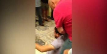 Trump Supporter Assaults Latino Protester While Others Chant 'USA! USA!'