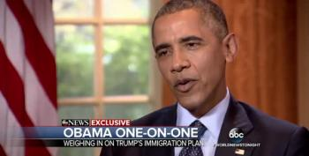 President Obama Throws Cold Water On Trump's 'Deportation Force'