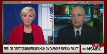Ex-CIA Michael Hayden To Ben Carson: Chinese Are Not In Syria
