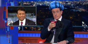 Colbert's 'Hungry For Power Games' Bids Farewell To Bobby Jindal