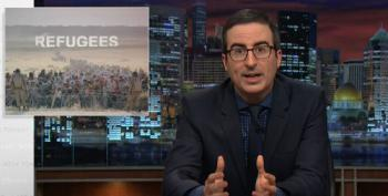 John Oliver Lays Waste To Republican Fearmongering Over Syrian Refugees