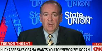 Huckabee Pretends Tweet Saying Obama Wants You To 'Memorize' The Koran Wasn't Meant To Lump Him In With Terrorists