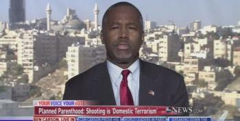 Ben Carson Won't Condemn Abortion Extremism Because Both Sides!