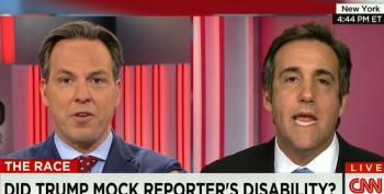 Jake Tapper Hammers Trump Advisor For Insisting He Wasn't Mocking Disabled NYT Reporter