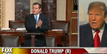Donald Trump Accuses Ted Cruz Of Acting Like A Maniac In The Senate