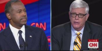Hugh Hewitt Booed For Asking If Carson Would Approve Murdering 'Thousands Of Children' In War