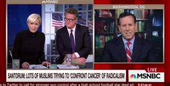 Mika Asks Santorum: 'Why Aren't You Working On White Men With Guns?'