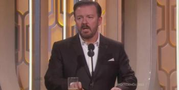 Ricky Gervais Unloads On Donald Trump's Xenophobia At The Golden Globes