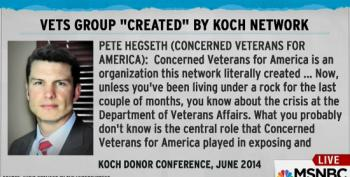 Maddow: Head Of Koch Funded Veterans Group Mysteriously Steps Down