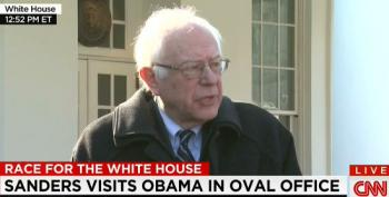Sanders Speaks After Meeting With President Obama