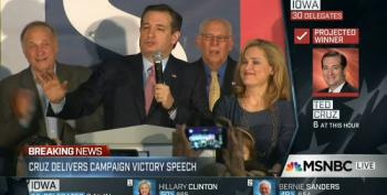 Ted Cruz Calls His Campaign A 'Testament To The Grass Roots' During Iowa Victory Speech