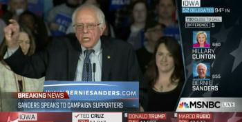 Bernie Sanders Takes Aim At Establishment, Campaign Finance System In Iowa Caucus Speech
