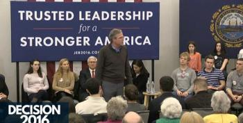 A Defeated Jeb Bush Begs New Hampshire Audience To Clap