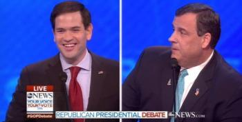 Christie And Rubio Draw Blood