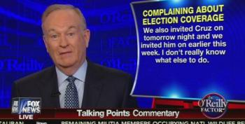 Bill O'Reilly Wonders Why Ted Cruz Refuses To Go On His Show