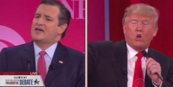 Ted Cruz And Donald Trump Pull Out Their Big Guns, Shoot Each Other In Debate