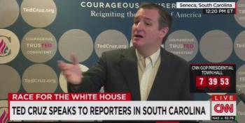 Ted Cruz Denies Everything In A Weird Presser Attacking Trump And Rubio