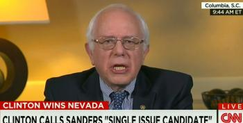 Sanders Pushes Back At Notion That He's A 'Single Issue Candidate'
