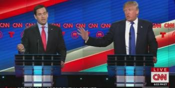 Trump And Rubio Trade Punches Over Hiring Undocumented Workers