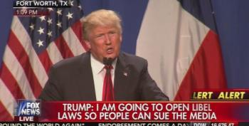 Donald Trump: 'I'm Going To Open Up Our Libel Law' To Sue Media
